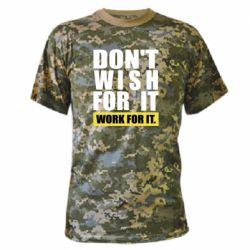 Камуфляжна футболка Dont wish
