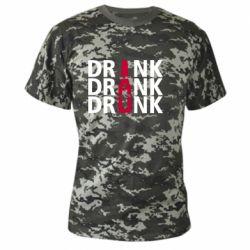 Камуфляжная футболка Drink Drank Drunk