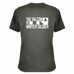 Камуфляжна футболка Falcon and winter soldier logo