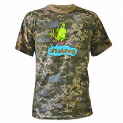Камуфляжная футболка Fish Fishing