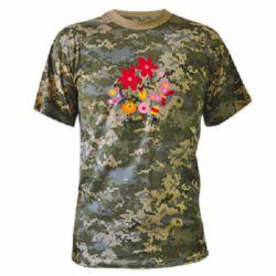 Камуфляжная футболка Flowers and Butterflies