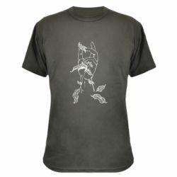 Камуфляжна футболка Hand with leafs