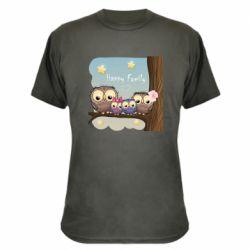 Камуфляжна футболка Happy family