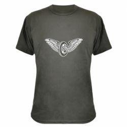 Камуфляжна футболка Колесо та крила
