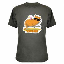 Камуфляжна футболка Котик на пляжі