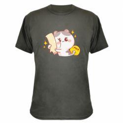 Камуфляжна футболка Кішка тримає руку