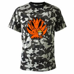 Камуфляжна футболка Kurama And Naruto