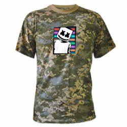Камуфляжная футболка Marshmello Colorful Portrait