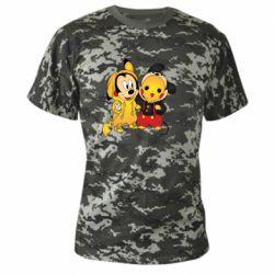 Камуфляжная футболка Mickey and Pikachu