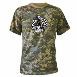 Камуфляжная футболка Motocross