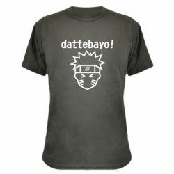 Камуфляжна футболка Naruto dattebayo!