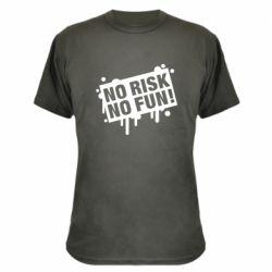Камуфляжна футболка No Risk No Fun