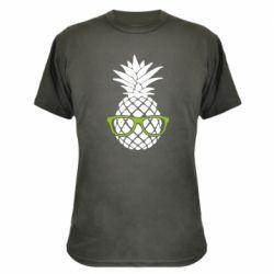 Камуфляжная футболка Pineapple with glasses