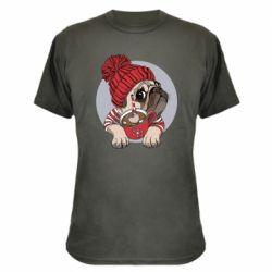 Камуфляжна футболка Pug And Coffee