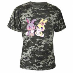 Камуфляжна футболка Rabbits In Love