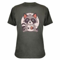 Камуфляжна футболка Raccoon with cookies