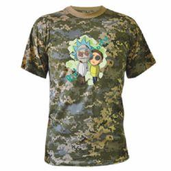 Камуфляжна футболка Rick and Morty voodoo doll