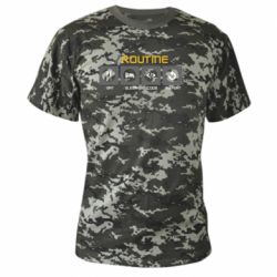 Камуфляжна футболка Routine code
