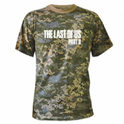 Камуфляжная футболка The last of us part 2 logo