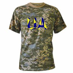 Камуфляжная футболка UA Ukraine
