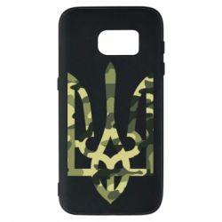 Чехол для Samsung S7 Камуфляжный герб Украины