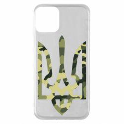 Чехол для iPhone 11 Камуфляжный герб Украины