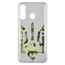 Чехол для Samsung M40 Камуфляжный герб Украины