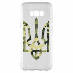 Чехол для Samsung S8+ Камуфляжный герб Украины
