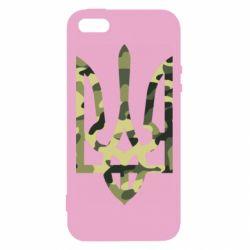 Чехол для iPhone5/5S/SE Камуфляжный герб Украины