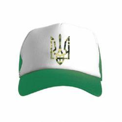 Детская кепка-тракер Камуфляжный герб Украины