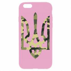 Чехол для iPhone 6 Plus/6S Plus Камуфляжный герб Украины