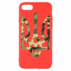 Чехол для iPhone 7 Камуфляжный герб Украины
