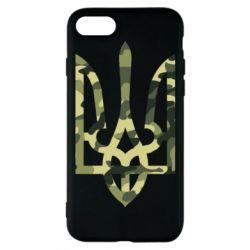 Чехол для iPhone 8 Камуфляжный герб Украины