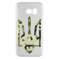 Чехол для Samsung S6 EDGE Камуфляжный герб Украины
