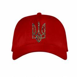 Детская кепка Камуфляжный герб Украины - FatLine