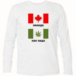 Футболка с длинным рукавом Канада Как надо - FatLine