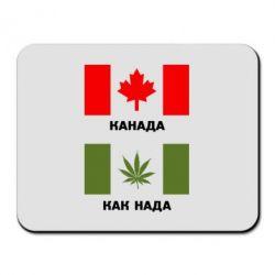 Коврик для мыши Канада Как надо - FatLine