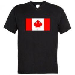 Мужская футболка  с V-образным вырезом Канада - FatLine