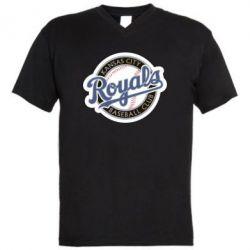 Мужская футболка  с V-образным вырезом Kansas City Royals - FatLine