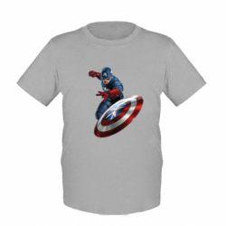 Детская футболка Капитан Америка - FatLine
