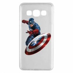 Чехол для Samsung A3 2015 Капитан Америка