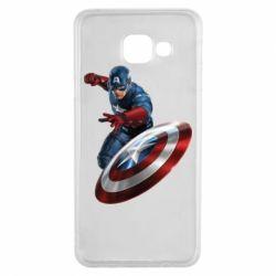 Чехол для Samsung A3 2016 Капитан Америка