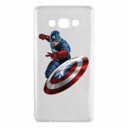 Чехол для Samsung A7 2015 Капитан Америка