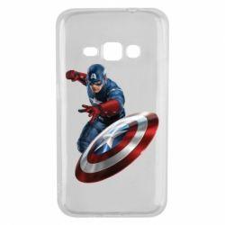 Чехол для Samsung J1 2016 Капитан Америка