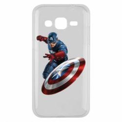 Чехол для Samsung J2 2015 Капитан Америка