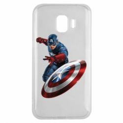 Чехол для Samsung J2 2018 Капитан Америка