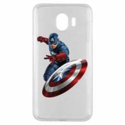 Чехол для Samsung J4 Капитан Америка