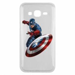 Чехол для Samsung J5 2015 Капитан Америка
