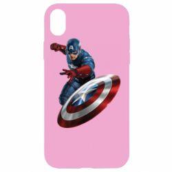 Чехол для iPhone XR Капитан Америка