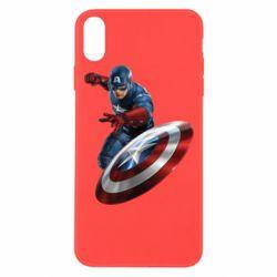 Чехол для iPhone Xs Max Капитан Америка